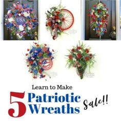 How to Make a Tree Topper Bow Silk Flower Wreaths, Deco Mesh Wreaths, Patriotic Wreath, 4th Of July Wreath, Christmas Wood Crafts, Christmas Wreaths, How To Make Wreaths, How To Make Bows, Mesh Wreath Tutorial
