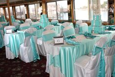 Tiffany Blue Wedding Reception | Table Wear was established in 2001 and has helped many customers enjoy ...