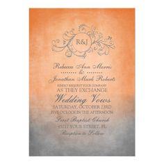 Shop Rustic Teal and Grey Bohemian Wedding Invitation created by TheBrideShop. Bohemian Wedding Invitations, Engagement Party Invitations, Rustic Invitations, Anniversary Invitations, Bohemian Invitation, Orange Wedding Invitations, Invitation Ideas, Wedding Stationary, Wedding Color Schemes