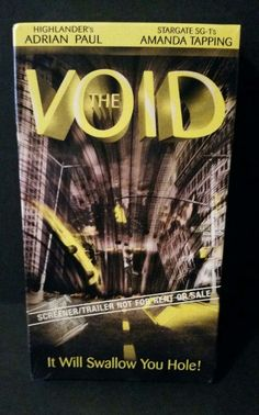 The Void VHS Video 2001 Lions Gate SciFi Thriller Sealed Screener Trailer