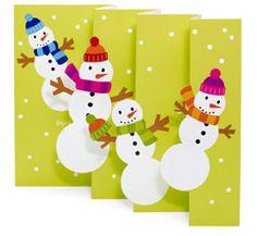 Snowman Party invite