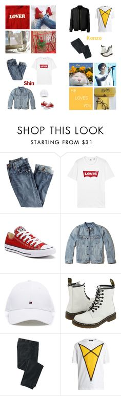 """Happy Early Birthday Shin"" by dianakhuzatyan ❤ liked on Polyvore featuring J.Crew, Levi's, Converse, Hollister Co., Dr. Martens, TravelSmith, Raf Simons and LE3NO"