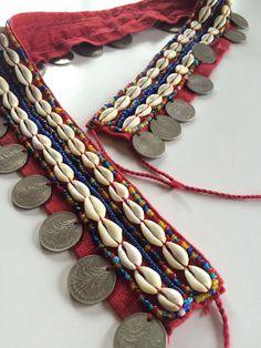 Vintage Burma / Burmese / Myanmar Coin and Cowrie Shell Belt // Bellydance Belt // Festival // Hippie // Boho // Gypsy Tribal Fusion, Boho Gypsy, Hippie Boho, Dance Belt, Fashion Accessories, Fashion Jewelry, Hippy Chic, Tribal Belly Dance, Handmade Jewelry Designs