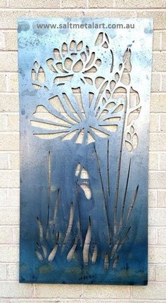 Flower decorative panel or privacy screen