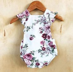 Cute Newborn Baby Girl Floral Bodysuit Romper Jumpsuit Outfit Clothing … Niedliche Neugeborene Baby Mädchen Floral Bodysuit Strampler Overall Outfit Kleidung – Babies clothes – - Cute Adorable Baby Outfits Fashion Kids, Baby Girl Fashion, Fashion Design, Cheap Fashion, Fashion Fashion, Fashion Online, Fashion Trends, Girls Summer Outfits, Summer Girls