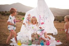 Paint war..i've always wanted to do a photoshoot like this!! so much fun!