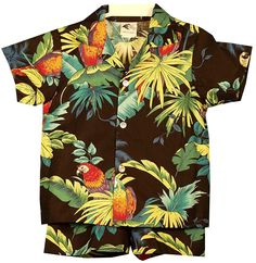 Canaba sets are sets of shirt and shorts that originated in Hawaii. This page features a great selection of cabana sets for little boys. Family Outfits, Boy Outfits, Hawaiian Pattern, Cheap Sweaters, Shirt Sale, Matching Outfits, Boys Shirts, Printed Shirts, Button Down Shirt
