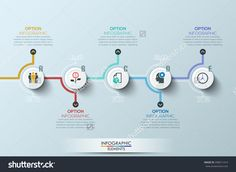 Modern Clean Business Circle Origami Style Timeline Banner. Vector. Can Be Used…