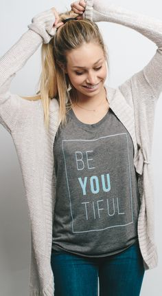 Be your own kind of beautiful... be-you-tiful! Cute shirt and it gives back to a good cause - what's NOT to love?!  #Sevenly