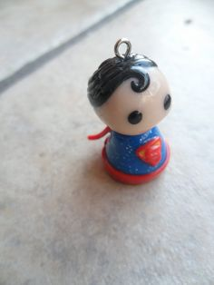 Superman Pawn Clay Charm. $8.00, via Etsy.