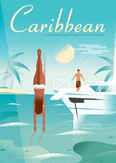 Retro poster series on Behance Retro, Tourism Poster, Art Deco Illustration, Poster Series, Art For Art Sake, Graphic Design Posters, Vintage Travel Posters, Grafik Design, Illustrations And Posters