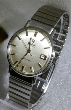 Omega Seamaster automatic with date on unusual original omega bracelet circa 1960s