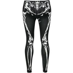 Skeleton Leggings ($22) ❤ liked on Polyvore featuring pants, leggings, bottoms, skeleton leggings, sexy pants and sexy leggings
