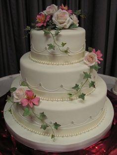 gumpaste roses/alstroemeria By JenniferMI on CakeCentral.com