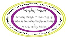 Variety is the spice of life! Flavor your writing instruction with our FREE Mayday Menu- filled with 20 planning, drafting, and revising ideas to help you make writing zesty.