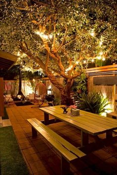 Outdoor lighting ideas for backyard, patios, garage. Diy outdoor lighting for front of house, backyard garden lighting for a party Outdoor Rooms, Outdoor Gardens, Outdoor Decor, Outdoor Seating, Outdoor Dining, Backyard Seating, Outdoor Furniture, Adirondack Furniture, Adirondack Chairs