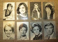 "Set of 11 postcards ""The artists of soviet cinema"". Small postcards. USSR 1970s Soviet vintage Russian vintage Cards Cinema Soviet stars"