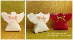 Cajitas de angelitos en foami para bautizos y primera comunión ~ cositasconmesh
