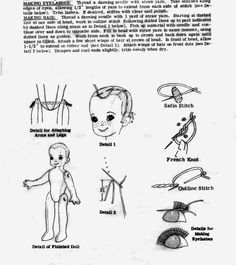 Quirky Artist Loft: Free Vintage Baseball Head Doll Pattern
