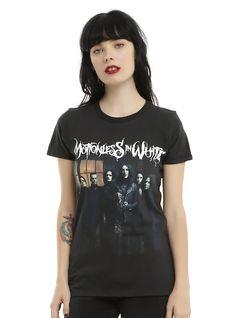 Motionless In White Group Girls T-Shirt, BLACK
