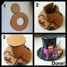 DIY card board monster high hat
