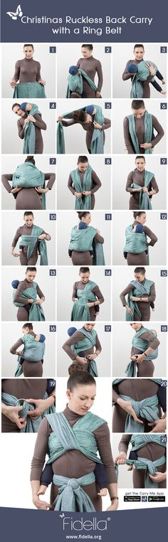 Instruction: Christinas Ruckless Back Carry with a Ring belt