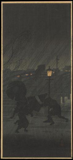 """ Takahashi Hiroaki (1871-1945), Niwaka Ame (Pluie Soudaine) - vers 1927 """