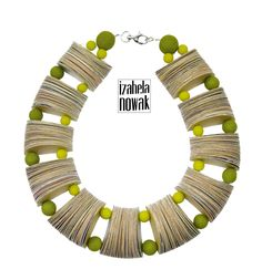 https://flic.kr/p/v7sq4u | Paper and Polymer Clay Necklace by Izabela Nowak Design | Included in Colorful Paper Jewelry Round Up: www.allthingspaper.net/2015/07/colorful-paper-jewelry-rou...