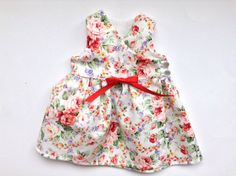 Baby Wrap Dress Baby Rose Dress Baby Flower by ShesSoPrecious