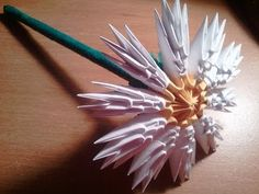 How to make 3D origami flower - YouTube