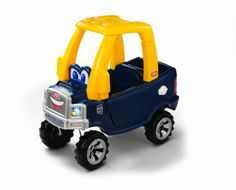 Little Tikes Cozy Truck. A kids truck with the durability of Little Tikes and the fun of our Cozy Coupe. This truck-styled riding toy is ideal for toddlers and preschoolers. The foot-to-floor format is easy to start, stop and steer. Use it indoors or out. Kids will love the working door and tailgate of this ride on toy.Working gas cap opens and closesSteering wheel with a working hornWeight limit up to 50 lbsDistinctive truck styling with a realistic front grillRemovable floor boardGender BoyLe