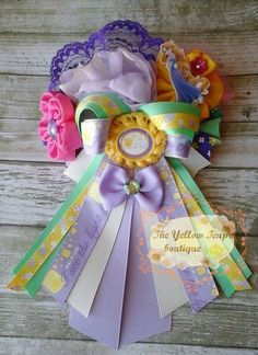 OTT Rapunzel inspired hair bow by YellowTeapotBoutique on Etsy