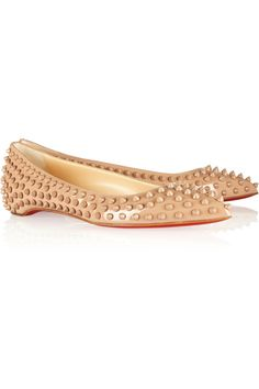 Christian Louboutin Pigalle Spikes patent-leather ballet flats [CELE00701] - $207.10 : Discounted Christian Louboutin,Jimmy Choo,Valentino Shoes Online store
