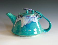 Mika, New Moon Teapot, Ceramic Teapot, ocpottery on etsy, by Kazem Arshi