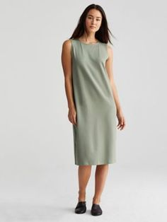 Organic Cotton Stretch Jersey Shift Dress-R7OJ-D4146