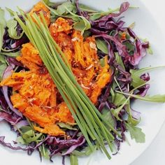 Sweet Potatoes, Red Cabbage and Rocket Salad: