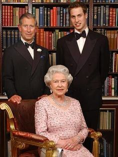 Queen Elizabeth II and heirs to the throne, Prince Charles and Prince William