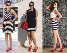 Colore accessori per abito nero e bianco Abiti Vestito 95072912766
