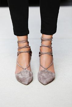 Jeffrey Campbell + Free People Berlin Heels in Grey on ShopStyle
