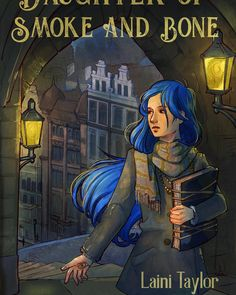 Daughter of Smoke and Bone - book cover project from my illustration class! It was a really evocative brand of fantasy. Bone Books, Laini Taylor, Daughter Of Smoke And Bone, Fantasy Love, Bones, Books To Read, This Book, Fan Art, Illustration