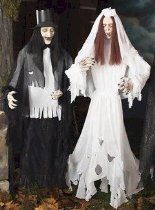 """As the wedding vows go """" til death do us part"""". Well this handsome couple really takes their vows seriously, so seriously in fact that they are still an item even in the afterlife, how romantic."""