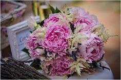 Peonie and Astilbe wedding bouquet, Vintage, shabby chic wedding decorations and flowers by Rachel Rose Weddings in Spain- www.weddingvenuesinspain.com, photography by www.limelight.pl