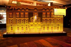 David Stark created an outline of a historic museum using fluorescent tape