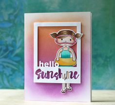 Such an Adorable card created by Laura Bassen using New Simon Says Stamp Exclusives from the Splash of color release.