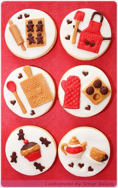 Wouldn't these be cute to make/serve at a Christmas cookie decorating party?