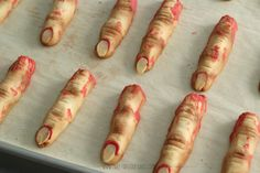 Severed Zombie Finger Cookies by Make Fabulous Cakes