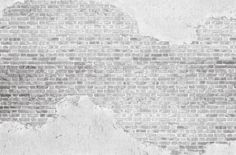 vintage whitewashed plastered old brick wall textured background