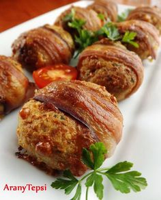 AranyTepsi: Sajtos fasírtgolyók baconbe tekerve