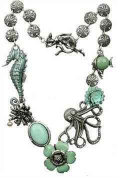 Seahorse Octopus Necklace