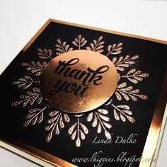 Want drama?? You cant go past this copper and black combination from Stampin'Up Australia!